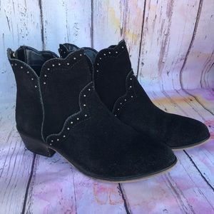 Chinese Laundry Saunter Suede Studded Western Boot